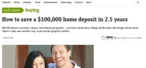 home deposit headline copy