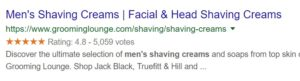 page title example shaving